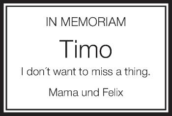 Zur Gedenkseite von Timo