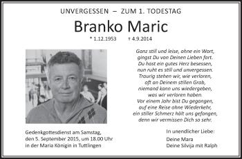 Zur Gedenkseite von Branko