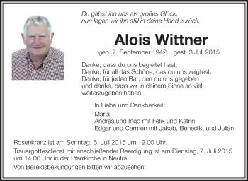 Zur Gedenkseite von Alois