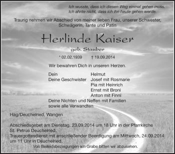 Zur Gedenkseite von Herlinde
