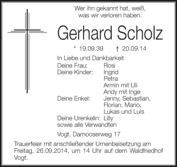 Zur Gedenkseite von Gerhard