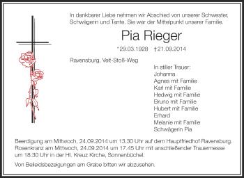 Zur Gedenkseite von Pia