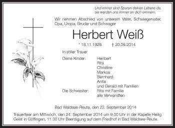 Zur Gedenkseite von Herbert