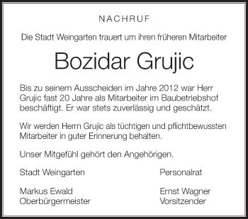 Zur Gedenkseite von Bozidar