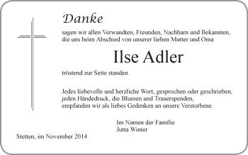 Zur Gedenkseite von Ilse