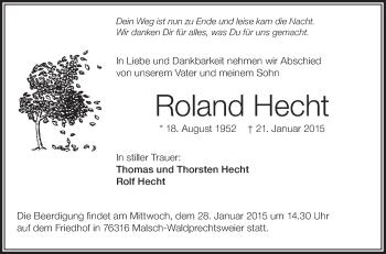 Zur Gedenkseite von Roland