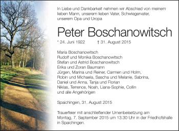 Zur Gedenkseite von Peter