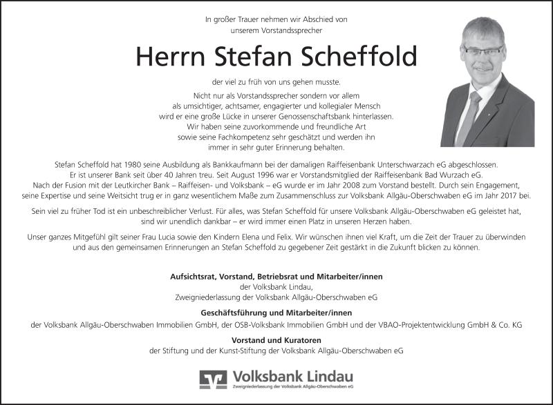 Traueranzeige Von Stefan Scheffold Schwaebische De Trauerportal